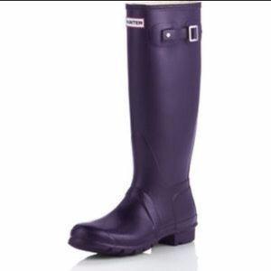 Hunter | Purple Tall Matte Rain Boots~8